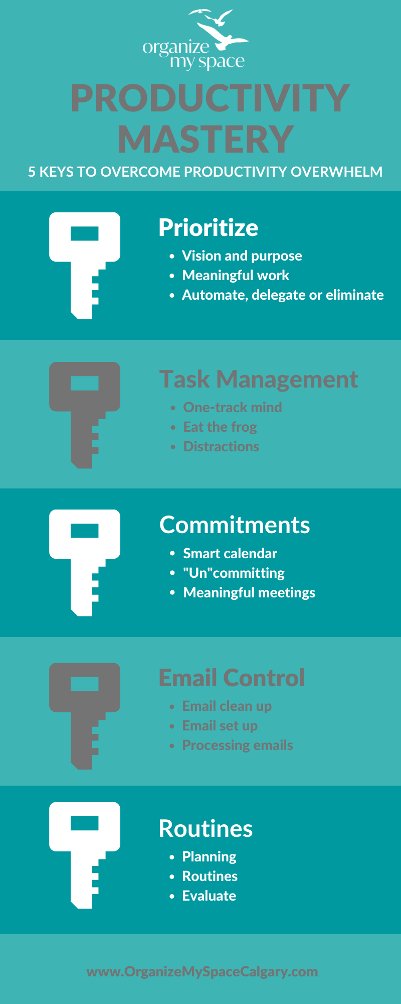 5 Keys to Overcome Productivity Overwhelm