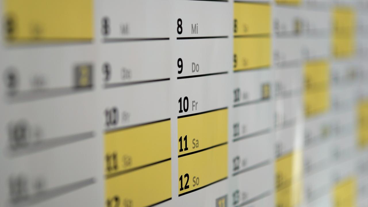 Smart calendar set up